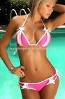 Bi-Color Lace Bikini Neon Pink JR6252