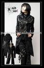 Punk Rave gothic style black coat Y-271