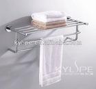 Brass Bathroom Hanging Towel Shelf