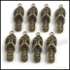 Wholesale Antique Bronze Pendant Alloy Charms Cute Slippers Fit Jewellery DIY 35*13*5mm 140725