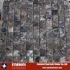 Dark marble mosaic tile