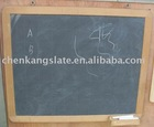 slate blackboard with wood frame