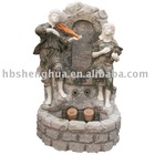 Marble garden fountain with statue H210cm