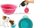 Popware Dog Pet Portable COLLAPSIBLE Silicone bowl for Camping Water / Food TRAVEL