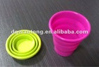 Portable silicone foldable outdoor cup