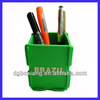 pvc rubber pen container , combinatorial plastic pencil container
