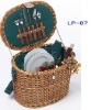natural handmade wicker picnic basket small basket