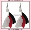 NHL Little Earth Fan Feather Earrings