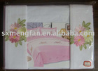 3pc 4pc 5pc 6pc 7pc 8pc100% cotton Bedding set/Embroidered bed sheet/ fitted sheet/ pillowcase set