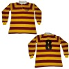 Men's long sleeve knitted rugby shirt