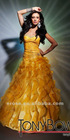 ET-145 Beaded Sweetheart Ruffles Organza Mermaid Evening Dress