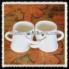 New design lovely lovers hug ceramic mugs