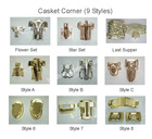 casket hardware corners