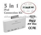 5 in 1 connection kit for ipad ,5 in 1 camera kit,5 in 1 card reader for Ipad ,IPhone,Ipod touch