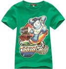 children 100%cotton short sleeve printing cartoon tshirt