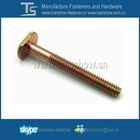 yellow zinc plated steel T bolt