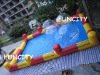 2012 New inflatable pool with pillar and net and step