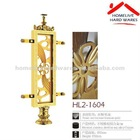 golden stainless steel /aluminum / copper handrail stanchion