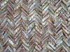 natural iridescent herringbone chinese freshwater mother of pearl(MOP)shell mosaic tiles in wave pattern
