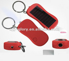 Solar Projector Flashlight Keychain torch