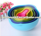 Food grade 8 sets plastic colorful bowls