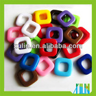 mixed color square hollow acrylic beads for jewelry