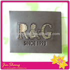 Copetetive price embrossed leather tag for jeans