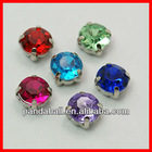 Acrylic Rhinestone Beads with Brass Findings(GACR-D001-5mm-M)