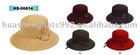 Ladies Wool Felt Hat/Bucket hat with flower