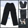 multi pocket cotton-padded trousers