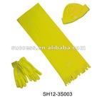 Fleece hat scarf glove sets(SH12-3S003)