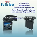 CDVR-W-237----Portable car dvr video recorder with 2.5 TFT LCD and four LEDs for night vision