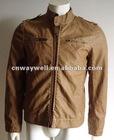 2012 Mens' Fashion garment dyed PU Leather Jacket