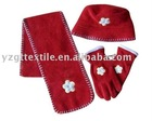hat glove hat 3 pcs set warmer set
