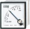 96 Power Factor Meter, panel meter, analog meter