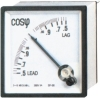 96 Power Factor Meter, panel meter, analog meter