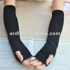 new fashion design wool half fingers winter gloves