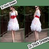 SC0009 White And Red One-shoulder Cute Girl's Party Dresses Fashion 2013