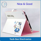 Hello kitty case for ipad2 PU leather cover for ipad 2 lovely case