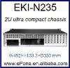 2U ultra compact chassis EKI-N235