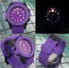 2012 High Quality Noctilucous Jelly Silicon Sport Unisex Quartz Watch