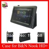 New arrival Stand Leather Case For Nook HD+ 9'' tablet PC,Nook HD+ 9'' tablet PC leather case,free shipping,Black Color