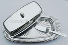 metal butter tray, butter plate, butter dish with knife