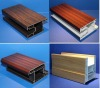 Wood grain pvc profile frame with laminated films, wood like profiles for doors and windows,Color pvc profiles