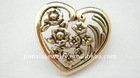 Antique gold plated mom brooch