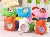 colorful silicone digital kids animal watch