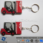 custom pvc rubber keychain for car