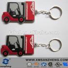 custom pvc rubber keychain for car