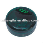 Plastic round box file clip with magnet