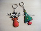 various shapes silicone rubber keyring for advertising gift